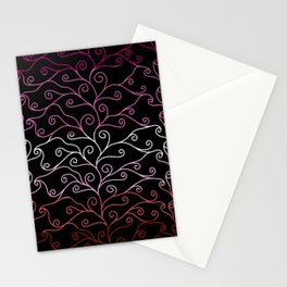 Swirls and Silk - Lesbian Flag Stationery Cards