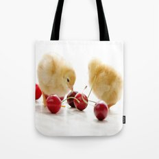 Sweet Chick and red Cherry Tote Bag