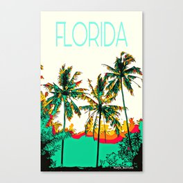 Tropical Palm Coconut Tree Canvas Print