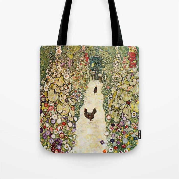 Gustav Klimt Garden Path With Chickens Tote Bag