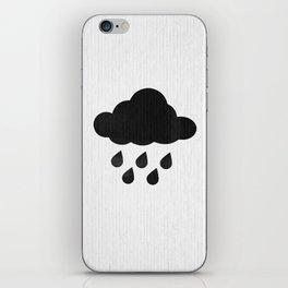 Rain cloud iPhone Skin