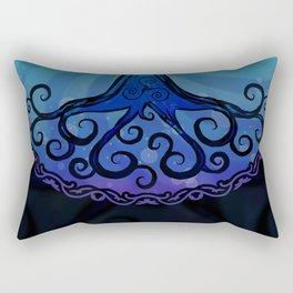 Tree of Life - Cool Blue Rectangular Pillow