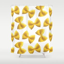 Farfalle Pasta Shower Curtain
