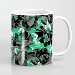 Mount Cook Lily - Green/Black Coffee Mug