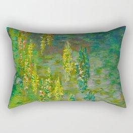 Claude Monet Impressionist Landscape Oil Painting Le Bassin des Nympheas Rectangular Pillow