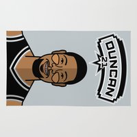 tim shumate Area & Throw Rugs featuring Tim Duncan by Will Wild