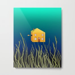 The Great Fish Escape Metal Print