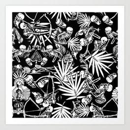 Tropical Skull Valley Art Print