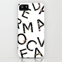 Letters Pattern iPhone Case