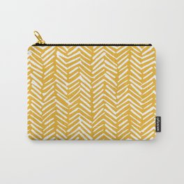Boho Mudcloth Pattern, Summer Yellow Carry-All Pouch