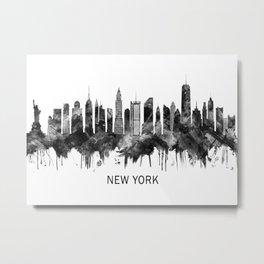 New York City Skyline BW Metal Print