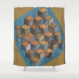Tumbling Blocks #5 Shower Curtain