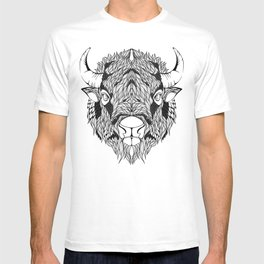 BISON head. psychedelic / zentangle style T-shirt