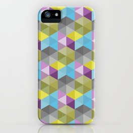Tangrams Pattern iPhone Case
