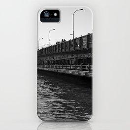 City of bridges, urban, photography, black and white iPhone Case