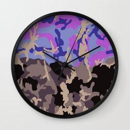 Urban Woodland Camo Wall Clock