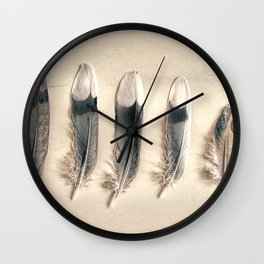 Dove Feathers Still Life Modern Cottage Modern Country Matted Picture USA A129 Wall Clock