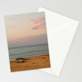 Sunset at the Beach in Greece Stationery Cards