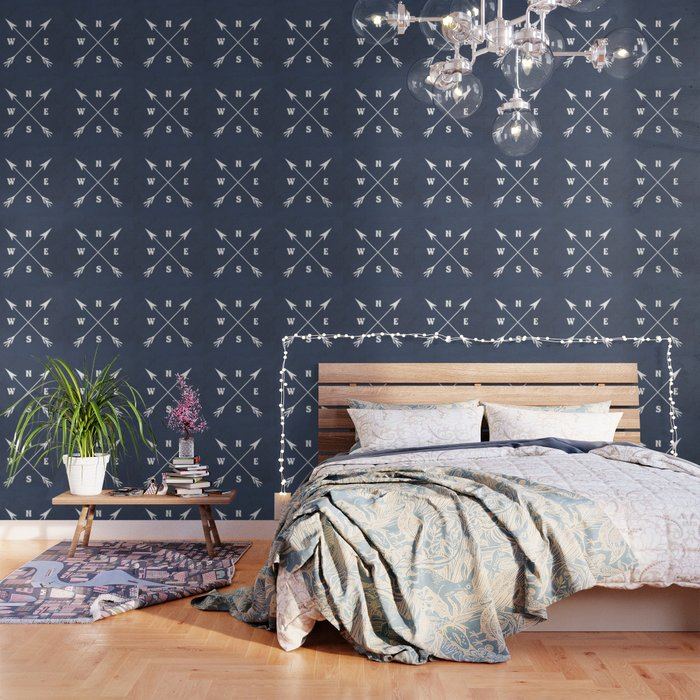 Compass arrows Wallpaper