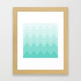 Fading Teal Chevron Framed Art Print