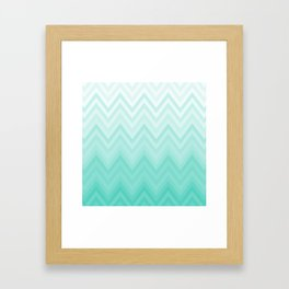 Fading Teal Chevron Framed Art Print