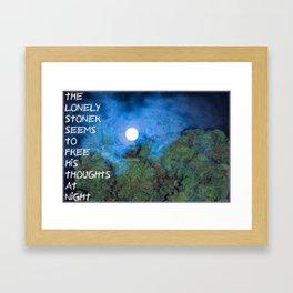Lonely Stoner  Framed Art Print