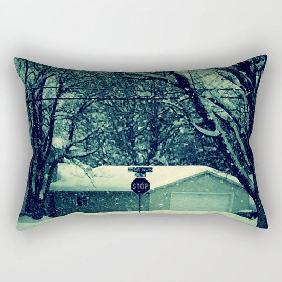 Stop snowing Rectangular Pillow