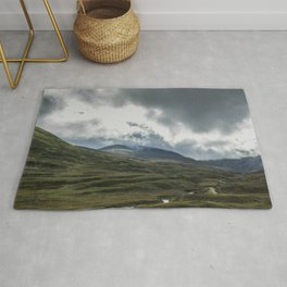 Scottish Mountains with Rain Clouds Rug