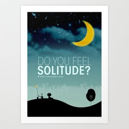 Solitude Laura Art Print