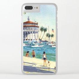 Avalon, Catalina Island Clear iPhone Case