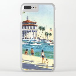 Avalon, Catalina Island Clear iPhone Case