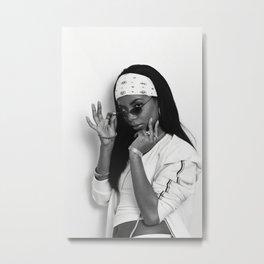 Aaliyah Poster Hip Hop Art Music Singer Hip Hop Rap Print Music Band Star Poster Wall Art Painting Room Home Decor Canvas Painting Metal Print