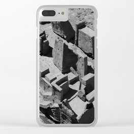 The Clay Labyrinth Ruins Clear iPhone Case