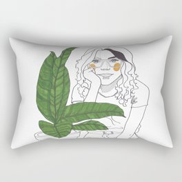 Green Time in the Meantime - 3 Rectangular Pillow