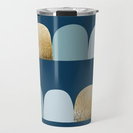 Abstract modern seamless pattern with realistic gold foil Travel Mug