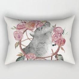 Wolf Dream Catcher Rectangular Pillow