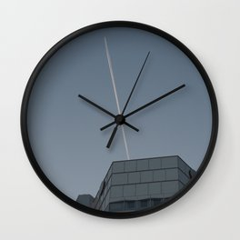 LOW ANGLE PHOTOGRAPHY OF BIRDS ON AIR IN THE MORNING Wall Clock