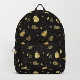 Gold Summer NEVER LOOK BACK typography Backpack