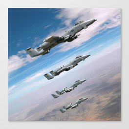 BEAUTIFUL AIRPLANE FORMATION Canvas Print
