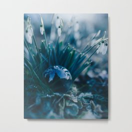 Glass Snowdrops. Metal Print