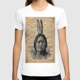 Sitting Bull Native American Chief  T-shirt