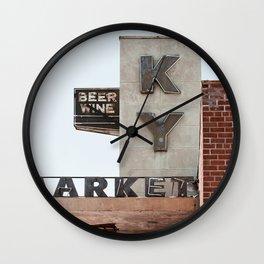 Vintage Tucson KY Market Wall Clock
