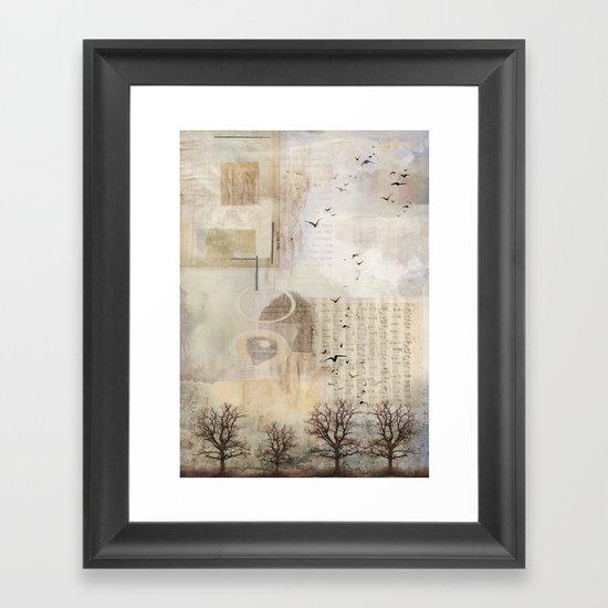 northern sky Framed Art Print