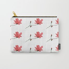 Red Magnolia Dance in Acrylic Ink Carry-All Pouch
