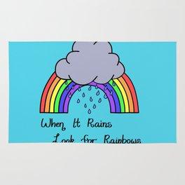 When it Rains, Look for Rainbows - LaurensColour Rug