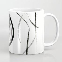 Black and White Line Abstract (1) Coffee Mug