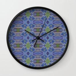 Nasturtium Flower Pattern Wall Clock