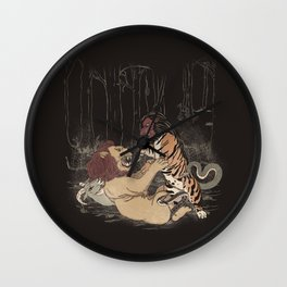 The Chimera Fight Wall Clock