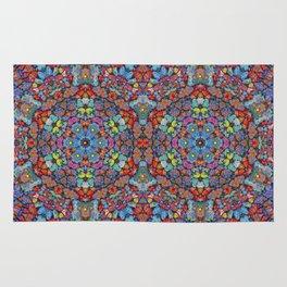 Color Lava Rock Mandala Rug
