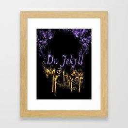 Dr. Jekyll and Mr. Hyde Framed Art Print